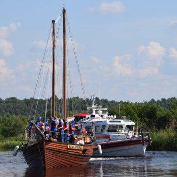 Седьмая экспедиция «Вместе по Русскому Северу-2020» стартовала сегодня, 28 июля, по Волго-Балтийскому и Северо-Двинскому водным путям.