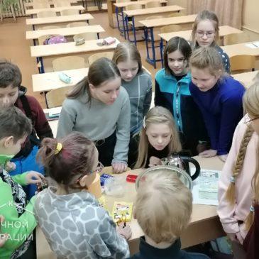 """В рамках курса """"Химия вокруг нас"""" школьники поставили очередной эксперимент"""