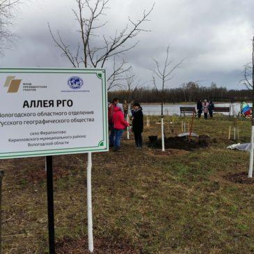 В Аллее памяти РГО в Ферапонтове высадили липы в честь земляков, погибших в годы войны